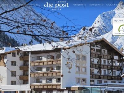Hotel die post**** in Galtür (Silvretta Hochalpenstraße)
